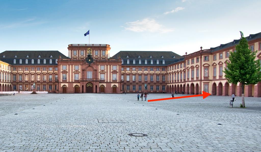 Schloss Mannheim Ehrenhof - Way description HWS2021